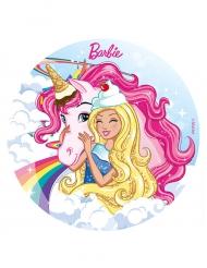 Disco de azúcar Barbie™ y su unicornio 20 cm
