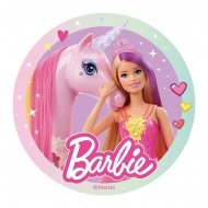 Oblea Barbie™ con unicornio 20 cm