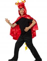Capa dragón rojo niño