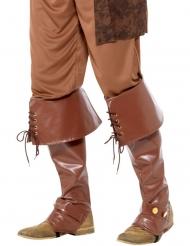 Cubrebotas marrón de lujo adulto