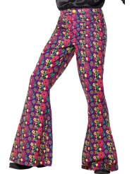 Pantalón hippie peace flower hombre