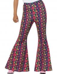 Pantalón hippie paz flores mujer