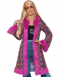 Abrigo hippie flores mujer