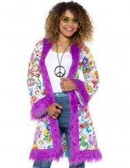 Abrigo hippie años 60 mujer