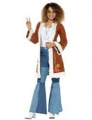 Abrigo hippie con pelo mujer