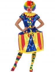 Disfraz payaso tienda de circo luminoso mujer