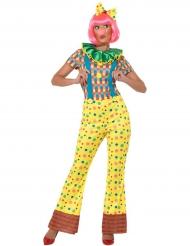 Disfraz mono de payaso mujer