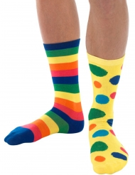 Calcetines payaso multicolor adulto