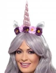 Diadema unicornio morado adulto