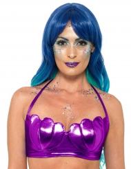 Top sirena violeta mujer