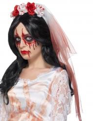 Velo de novia con sangre