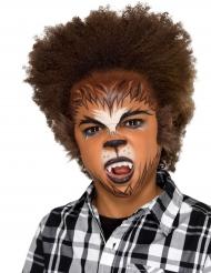 Kit maquillaje hombre lobo con piel niño