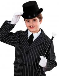Sombrero de copa negro niño