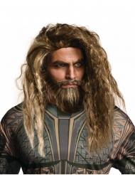 Peluca y barba Aquaman™ adulto