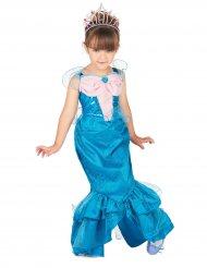 Disfraz sirena rosa y azul niña