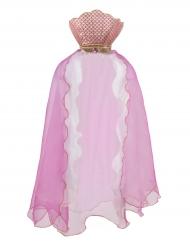 Capa de sirena rosa niña