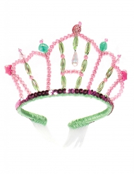 Diadema de princesa sirena rosa y verde