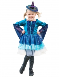 Disfraz bruja azul niña