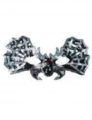 Máscara murciélago plateado niña