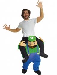Disfraz hombre sobre fontanero verde adulto Morphsuits™