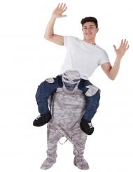 Disfraz hombre sobre hombros de momia adulto Morphsuits™