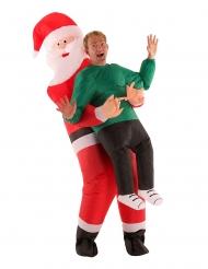 Disfraz inflable hombre en brazos de Papá Noel adulto Morphsuits™