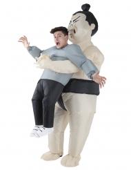 Disfraz hombre en brazos de Sumo adulto Morphsuits™