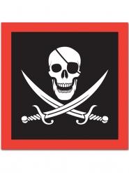 16 Servilletas de papel pirata 33 x 33 cm