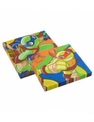 20 Servilletas papel Tortugas Ninja™ 33 x 33 cm
