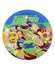 8 Platos pequeños de cartón Tortugas Ninja™ 18 cm