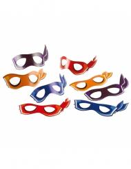 8 Caretas de cartón Tortugas Ninja™