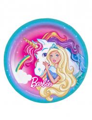 8 Platos de cartón Barbie Dreamtopia™ 23 cm