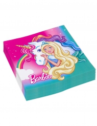 20 Servilletas de papel Barbie Dreamtopia™ 33x33 cm