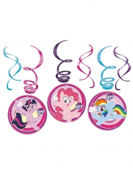 6 Decoraciones en espiral My Little Pony™
