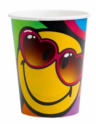 8 Vasos de cartón Smiley World™ 260 ml