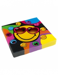 20 Servilletas de papel Smiley World™ 33 x 33 cm
