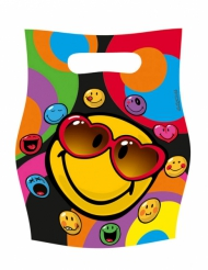 6 Bolsas regalo Smiley World™ 16 x 23 cm