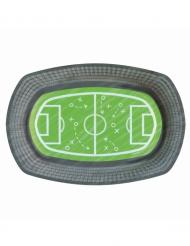 6 Platos de cartón cancha de fútbol 24 cm