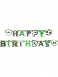 Guirlanda de papel Happy Birthday fútbol 2 m