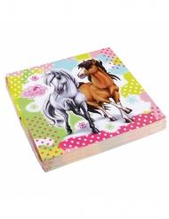 20 Servilletas de papel Charming Horses 33 x 33 cm
