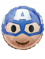 Globo aluminioCapitán América™ Emoji™ 43 cm