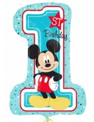 Globo cifra 1 aluminio Mickey™ 48 x 71 cm