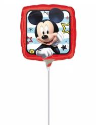Globo pequeño cuadrado aluminio Mickey™ 23 x 23 cm