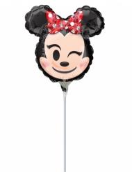 Globo pequeño aluminio cabeza de Minnie Emoji™ 22x22 cm