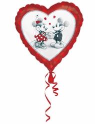 Globo aluminio corazón Mickey™ & Minnie™ love 43x43