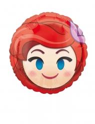 Globo pequeño de aluminio Ariel Emoji™ 23 cm