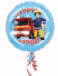 Globo aluminio Happy Birthday Sam el bombero™ 43 cm