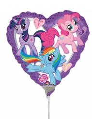 Globo pequeño corazón aluminio My Little Pony™ 23 x 23 cm