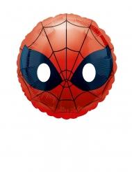 Globo pequeño aluminio Spiderman Emoji™ 23 cm