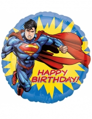 Globo aluminio Happy Birthday Superman™ 43 cm